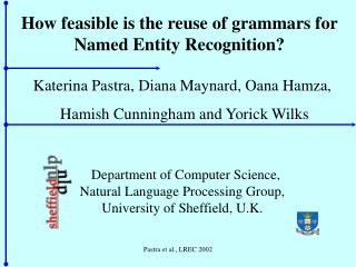How feasible is the reuse of grammars for Named Entity Recognition?