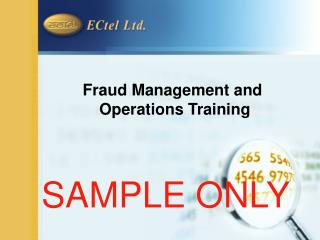 Fraud Management and  Operations Training