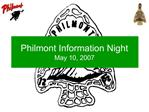 Philmont Information Night May 10, 2007
