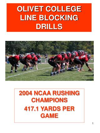 OLIVET COLLEGE LINE BLOCKING DRILLS