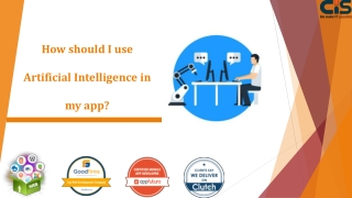 How should I use Artificial Intelligence in my app