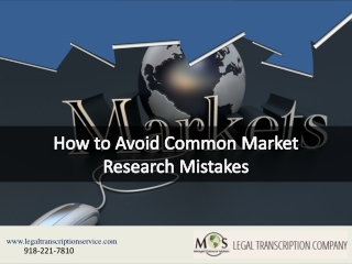 How to Avoid Common Market Research Mistakes