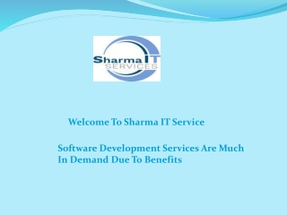 Software Development Services Are Much In Demand Due To Benefits