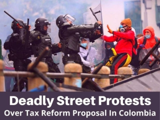 Deadly street protests over tax reform proposal in Colombia