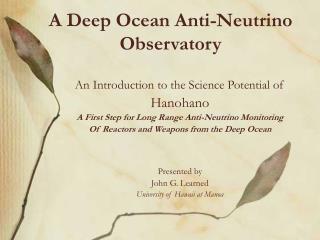 A Deep Ocean Anti-Neutrino Observatory