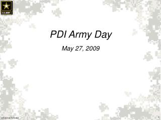 PDI Army Day May 27, 2009