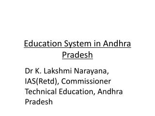 Education System in Andhra Pradesh