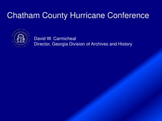 Chatham County Hurricane Conference