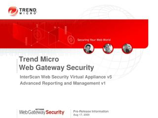 Trend Micro Web Gateway Security