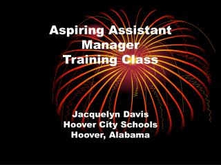 Aspiring Assistant Manager Training Class