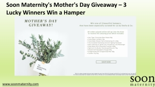 Soon Maternity's Mother's Day Giveaway – 3 Lucky Winners Win a Hamper