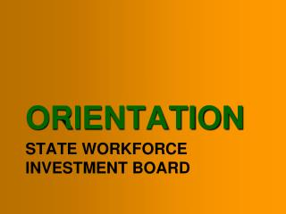 State Workforce Investment Board