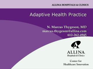 Adaptive Health Practice