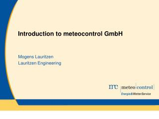 Introduction to meteocontrol GmbH