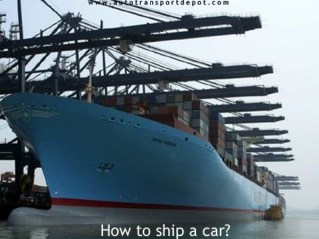 AutoTransportDepot.Com - When to Call Vehicle Shipping Servi