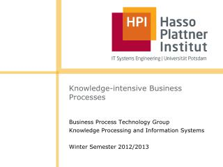 Knowledge-intensive Business Processes