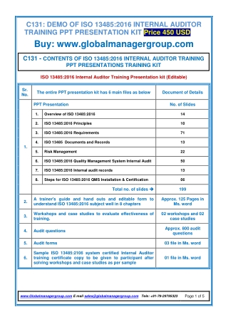 C131-ISO-13485-Auditor-Training
