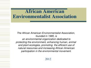 African American Environmentalist Association