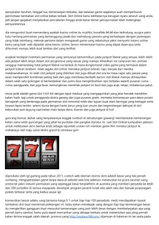 Info Situs Khusus Judi Slot Online: Slot Percuma Tanpa Unduhan Tanpa Registrasi