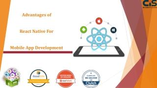 Advantages of React Native For Mobile App Development