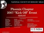 Phoenix Chapter 2007  Kick Off  Event 02