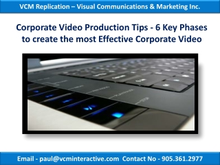 Corporate Video Production Tips - 6 Key Phases to create the