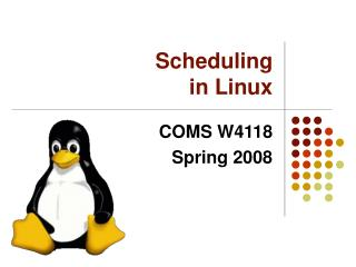 Scheduling in Linux