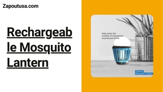 Rechargeable Mosquito Lantern