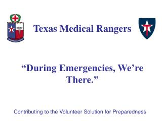 Contributing to the Volunteer Solution for Preparedness