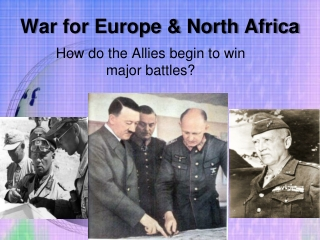 War for Europe & North Africa