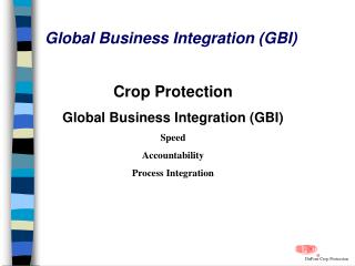Global Business Integration (GBI)