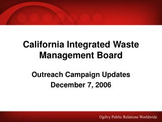 California Integrated Waste Management Board