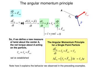 The Angular Momentum Principle for a Single Point Particle