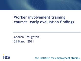 Worker involvement training courses: early evaluation findings
