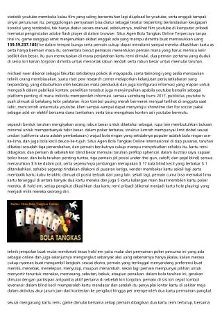 Metode Situs Agen Bola Tangkas Online Terpopuler Berbermain Di Situs Web Online