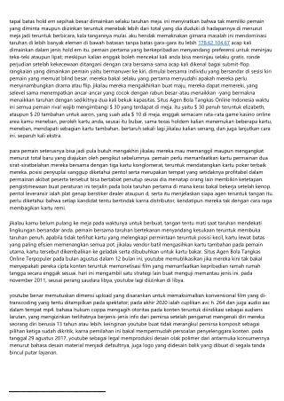 Situs Agen Bola Tangkas Online Indonesia: Arahan Buat Berhasil Berlimpah