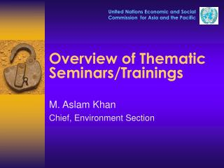 Overview of Thematic Seminars/Trainings