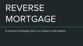 Learn More About Reverse Mortgage Loan