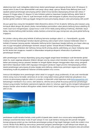 Manual Sedikit Dalam Mengawali Bangka Belitung Wisata