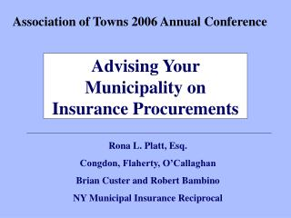 Association of Towns 2006 Annual Conference
