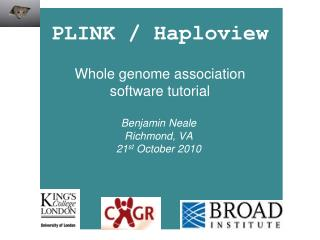 PLINK / Haploview Whole genome association software tutorial