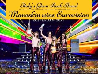 Italy's glam rock band Maneskin wins Eurovision