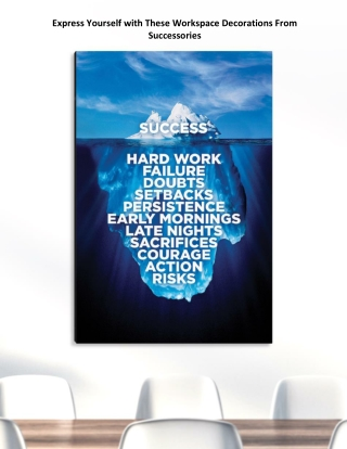 Express Yourself with These Workspace Decorations From Successories