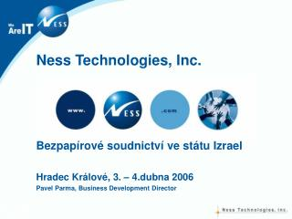 Ness Technologies, Inc.