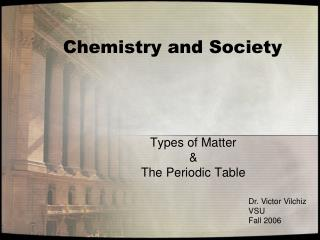 Chemistry and Society