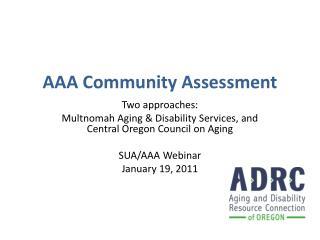 AAA Community Assessment