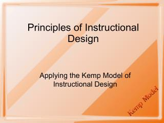 Principles of Instructional Design