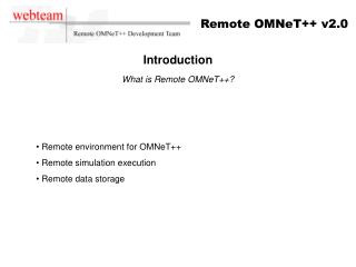 Introduction What is Remote OMNeT++?