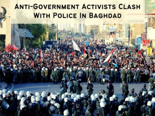 Anti-government activists clash with police in Baghdad