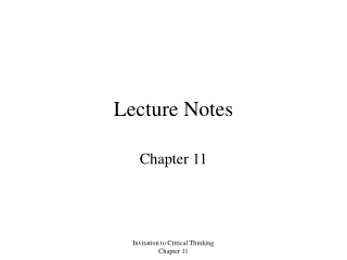 Lecture Notes